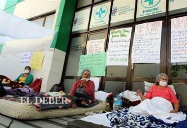 Huelga de hambre en el Hospital San Juan de Dios.