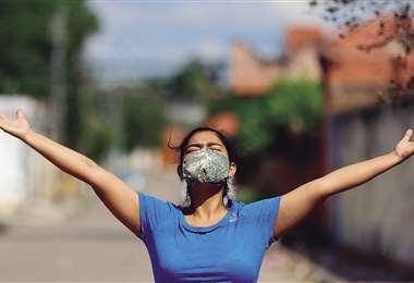 Kathya Espinoza agradece al Divino Creador por haber vencido la enfermedad sin mucho sufrimiento. Foto: Ricardo Montero