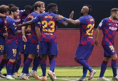 El Barcelona se encuentra en el segundo lugar de la tabla, después del Real Madrid. Foto: AFP