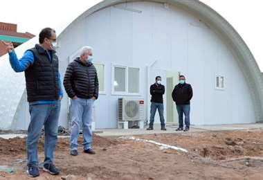 Las Unidades de Terapia Intensiva de los domos del japonés todavía no están habilitadas. Foto: Gobernación de Santa Cruz