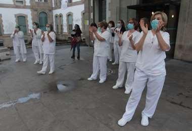 El personal sanitario español ha luchado en primera línea contra el coronavirus