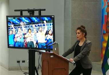 La ministra Fernández vinculó al MAS con demandas municipales Foto: Miguel Melendres