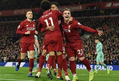 El Liverpool está muy cerca de consagrarse campeón de la Premier League. Foto: Internet
