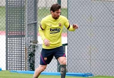 Llamo la atención de los medios españoles que Messi no haya trabajado con el grupo. Foto: Internet