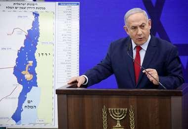 Netanyahu va por la eventual anexión en Cisjordania