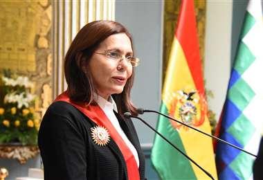 La canciller Karen Longaric. Foto: Cancillería.