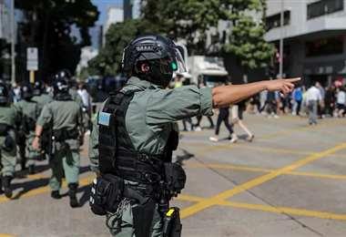 EEUU dejará de equipar a la Policía de Hong Kong. Foto Internet
