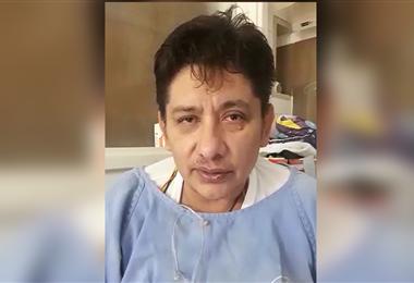 Erlan Pérez agradeció al país por la solidaridad. Foto. captura del video grabado