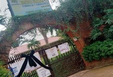 El hospital de Ascensión está cerrado. Foto Dhester Agreda
