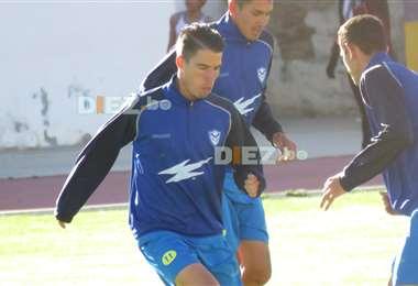 Javier Sanguinetti en un entrenamiento de San José. Jugó en ese club hasta año pasado, ahora milita en Always Ready. Foto: El Deber