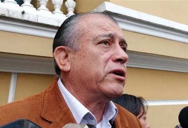 Saúl Lara, exministro de Gobierno de Carlos Mesa. ANF