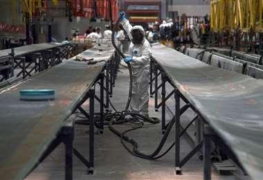 Fuerte caída de la producción industrial en España