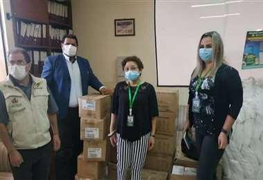 Equipo de bioseguridad donado por el Ministerio de Salud. Facebook Cenetrop