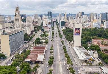 Vista panorámica de Río de Janeiro en cuarentena. Foto Internet
