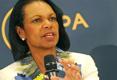 La exsecretaria de Estado Condoleezza Rice. Foto Internet