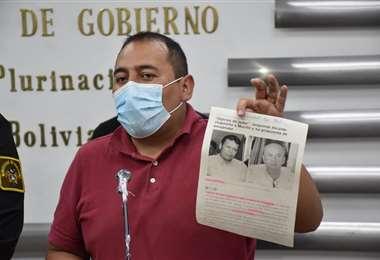 El viceministro Wilson Santamaría. Foto: Ministerio de Gobierno.