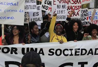 Los afrodescendientes salieron a protestar en España