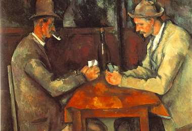 """""""Los Jugadores de Cartas"""" de Paul Cézanne que se encuentra en el museo de Orsay en París"""