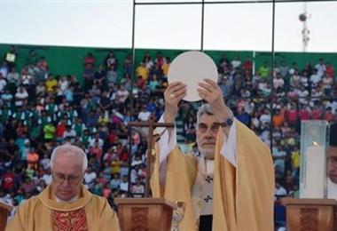 En Santa Cruz, la celebración de Corpus Christi se la realiza en el Tahuichi. En esta oportunidad será la excepción por el Covid-19. Foto. Internet