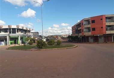 La capital de Guarayos está encapsulada. Foto Dhester Agreda