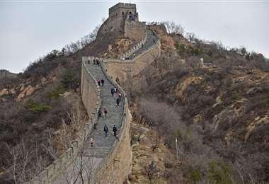 Un sector de la Muralla China. Foto Internet