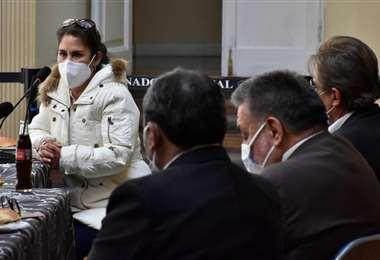 Sandra Humérez en la comisión legislativa. Foto: APG Noticias