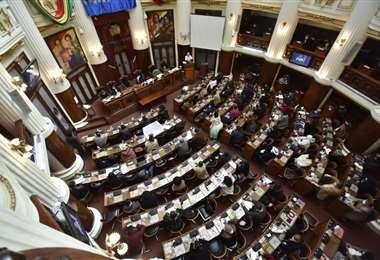 Una sesión en la Asamblea Legislativa.  Foto: APG Noticias