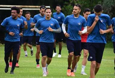 Un entrenamiento de Wilstermann, que podría volver este mes a los entrenamientos para jugar la Copa Libertadores. Foto: internet