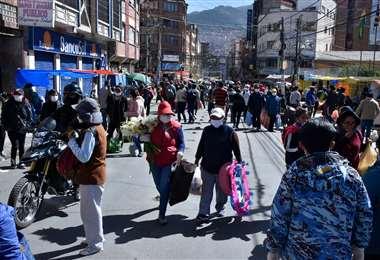 Hace poco más de dos semanas, La Paz comenzó en una cuarentea dinámica flexibilizada. Foto: APG Noticias