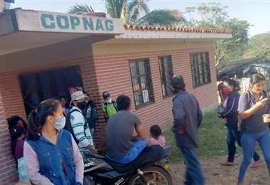 La sede de los indígenas en litigio. Foto Desther Agreda