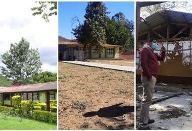 El antes y el después del hospital de segundo nivel (Fotos: Linda G))
