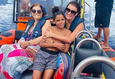 Cristiano Ronaldo Júnior y su familia están de vacaciones en Madeira, mientras su padre termina el torneo en Italia. Foto: Instagram