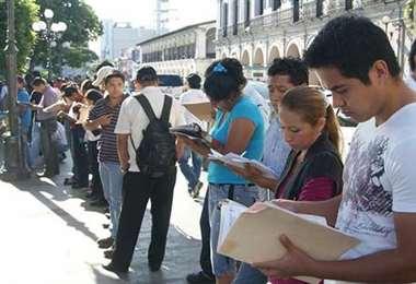 La tasa de desempleo en Bolivia se elevó en un 8,1% a mayo de este año/Foto: David Maygua