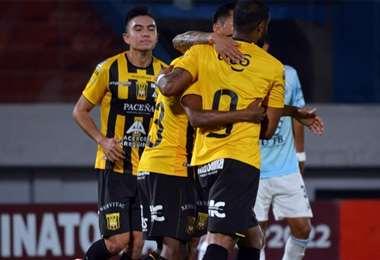 The Strongest durante un partido del torneo Apertura. Foto: Prensa The Strongest