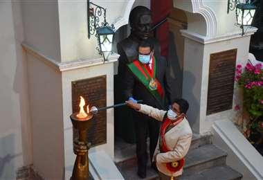 Actos por el aniversario de La Paz. Foto: APG Noticias.