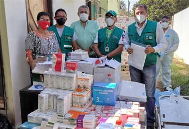 La brigada trajo insumos médicos. Foto Juan Pablo Cahuana