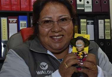 Inés Quispe durante una entrevista para DIEZ. Foto: Archivo / APG