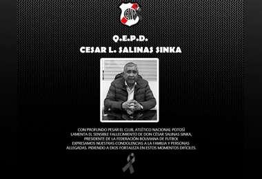 Condolencias de Nacional Potosí