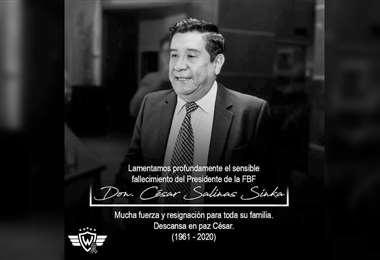 Condolencias de César Salinas
