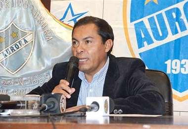 Jaime Cornejo, presidente del club Aurora de Cochabamba. Foto: internet
