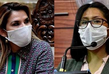 Jeanine Áñez y Eva Copa.