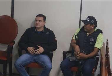 Robin Justiniano en audiencia/Foto: Jorge Uechi