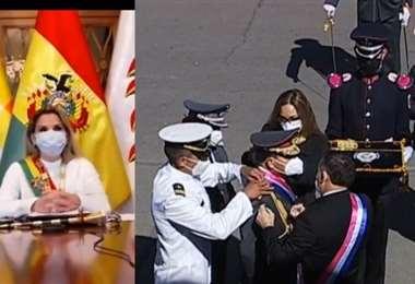 El 15 de julio, mediante un DS se procedió al ascenso de generales. Foto. ABI
