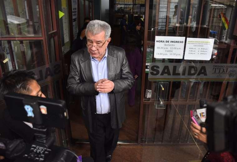Fernández en uno de sus encuentros con la prensa. Foto Archivo