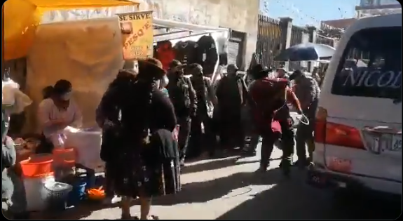 La agresión registrada en El Alto I captura.