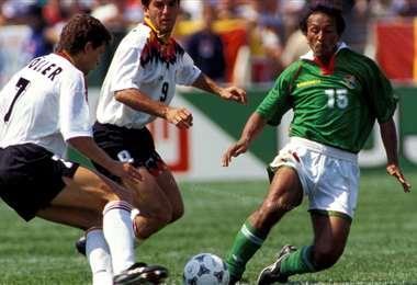 Vladimir Soria en una actuación con la selección boliviana. Foto: Internet
