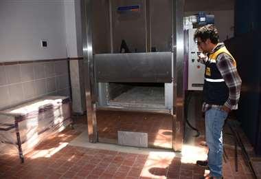 Un horno crematorio del cementerio de La Paz. Foto. AMN