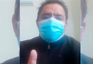 Henry López López se alista para dejar el hospital