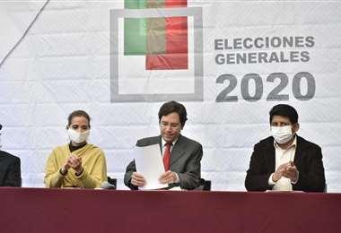 Romero dio el anuncio en conferencia de prensa en La Paz. Foto: APG Noticias
