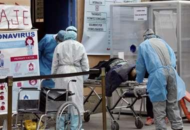 Suben los contagios de Covid-19 en Bolivia. Foto APG